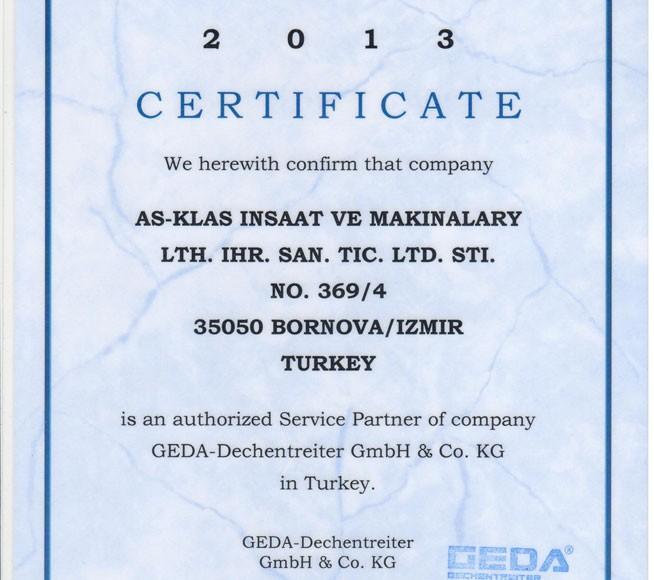 GEDA Sertifikası